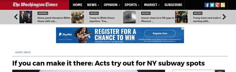 Washington Times Article