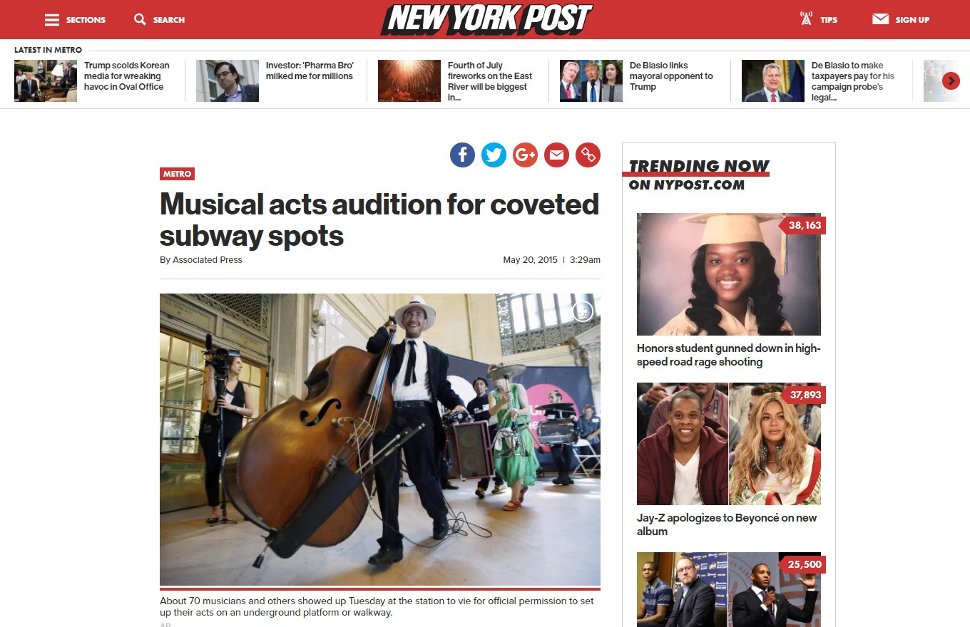 New York Post Article