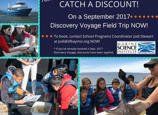 A Bay Area favorite school field trip -- MSI's Discovery Voyage -- is discounted for September