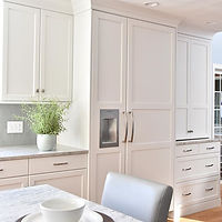 White cabinetr fridge panels
