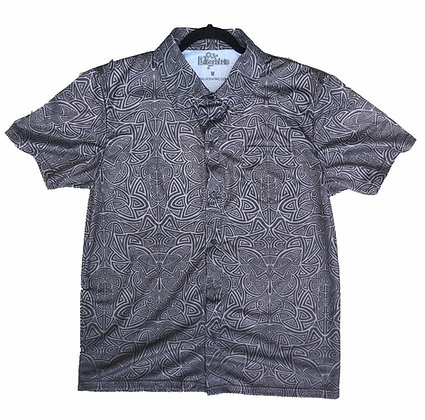 """""""Tribal Duality"""" Black Button-Up"""