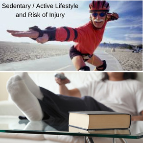 The difference between a sedentary vs active life style and the risk of injury.