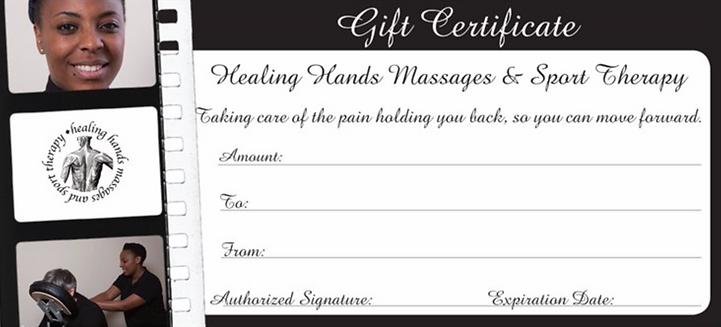 Massage Gift Voucher, Gift certificate