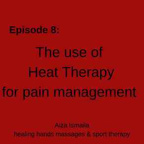 The use of heat therapy for pain management.