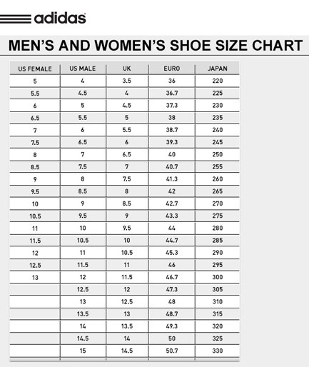 Male Static Stretching Chart: Adipower Sizing, Adidas Store