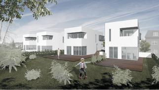 Planung von 6 Stadthäusern
