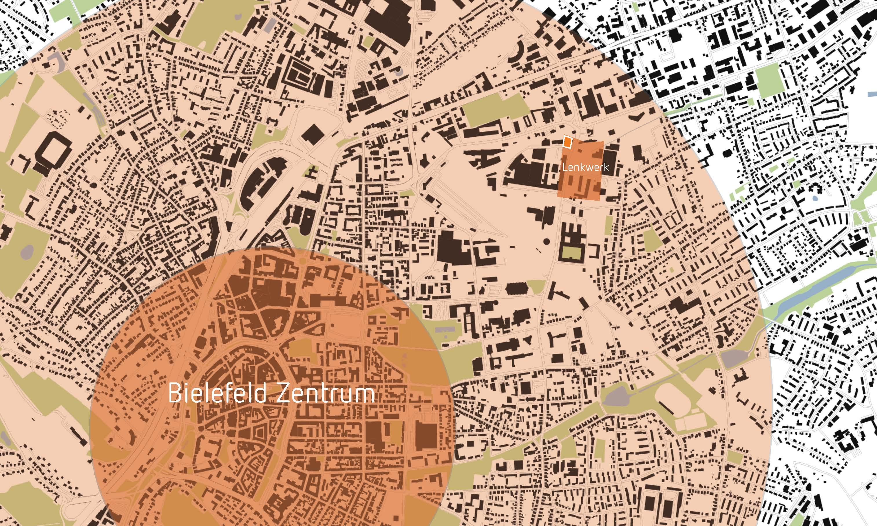LENKWERK_HAUS Lageplan Stadtgebiet