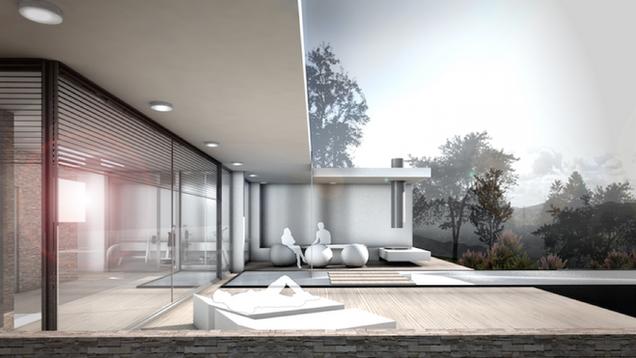Haus E., Neubau eines EFH am Südhang