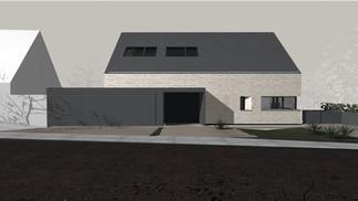 Neubauplanung eines Wohnhaus am Hang
