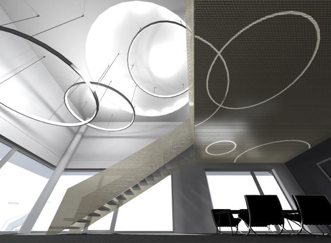Bürohaus Künker | Visualisierung Foyer