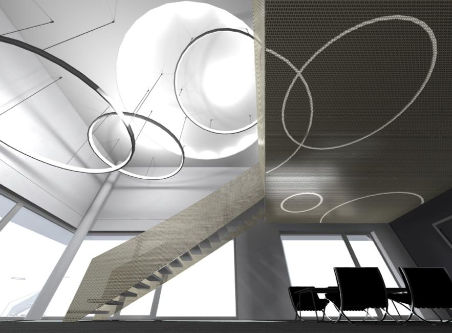 Bürohaus Künker   Visualisierung Foyer