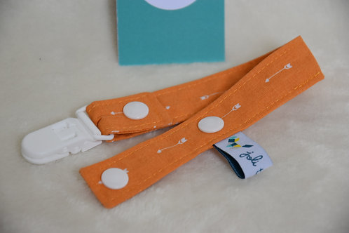 Attache tétine orange flèches
