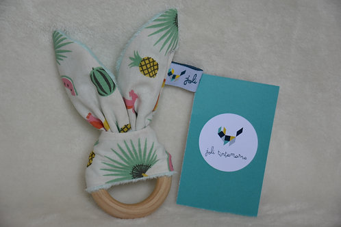 Hochet lapinou beige tropical