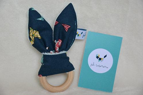 Hochet lapinou animaux origami