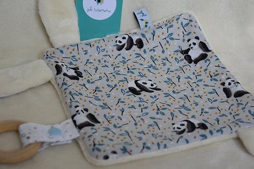 Doudou pandas gris