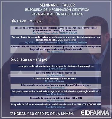 BUSQUEDA DE INFORMACIÓN CIENTÍFICA PARA APLICACÓN REGULATORIA. CIDFARMA