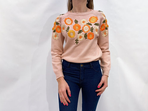 C808 Sweater floreado