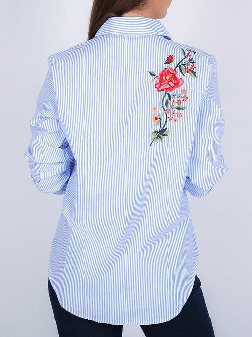C602 Camisa Rayada Rose