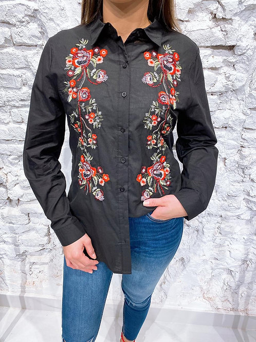 C187 Camisa bordada Piani