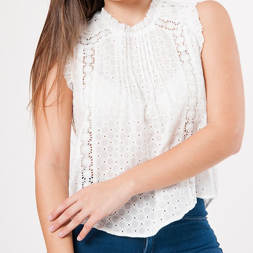 C159 MUSCULOSA BRODERIE  BOTÓN ABRIL
