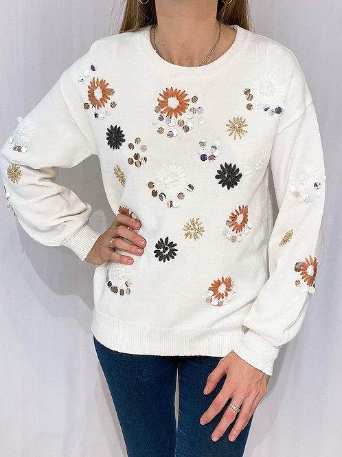 C761 Sweater Bordado Lent Muriel