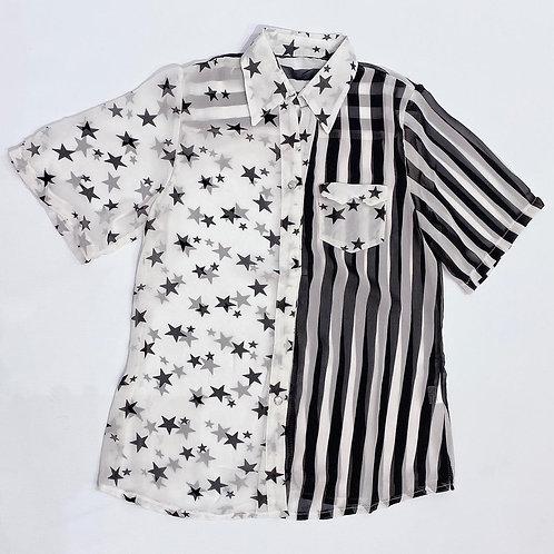 C40B Camisa gasa Stars