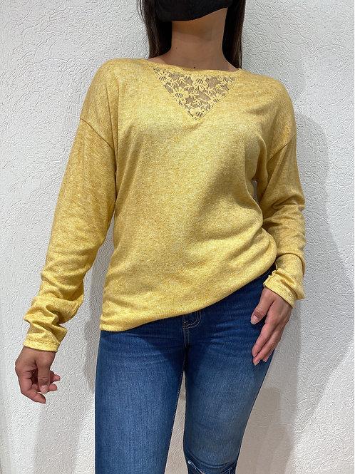 C606 Sweater Lanilla Bremer Encaje Pecho ANAIS