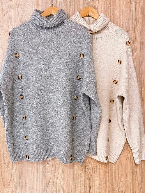C769 Sweater Botones Claro
