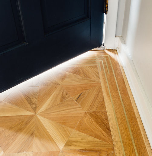 Custom Hardwood Floor Pattern