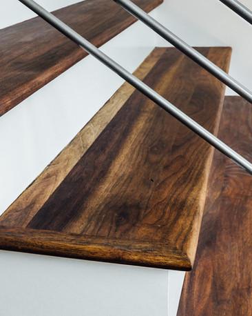 Walnut Hardwood Stairs