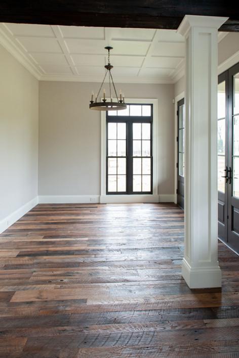 Rough top reclaimed white oak floors