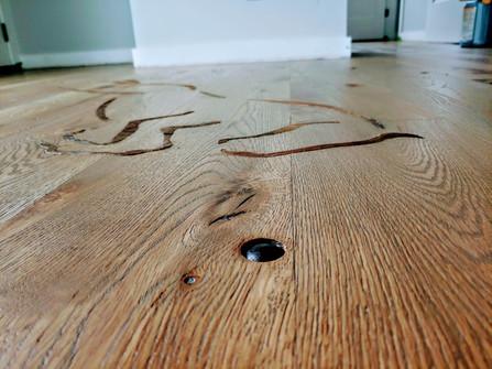 Custom Reclaimed Hardwood Inlay