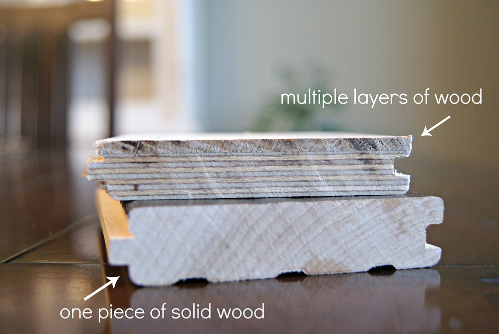 Difference between solid and engineered flooring