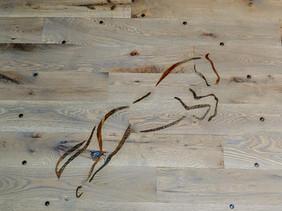 Custom Relaimed Hardwood Inlay