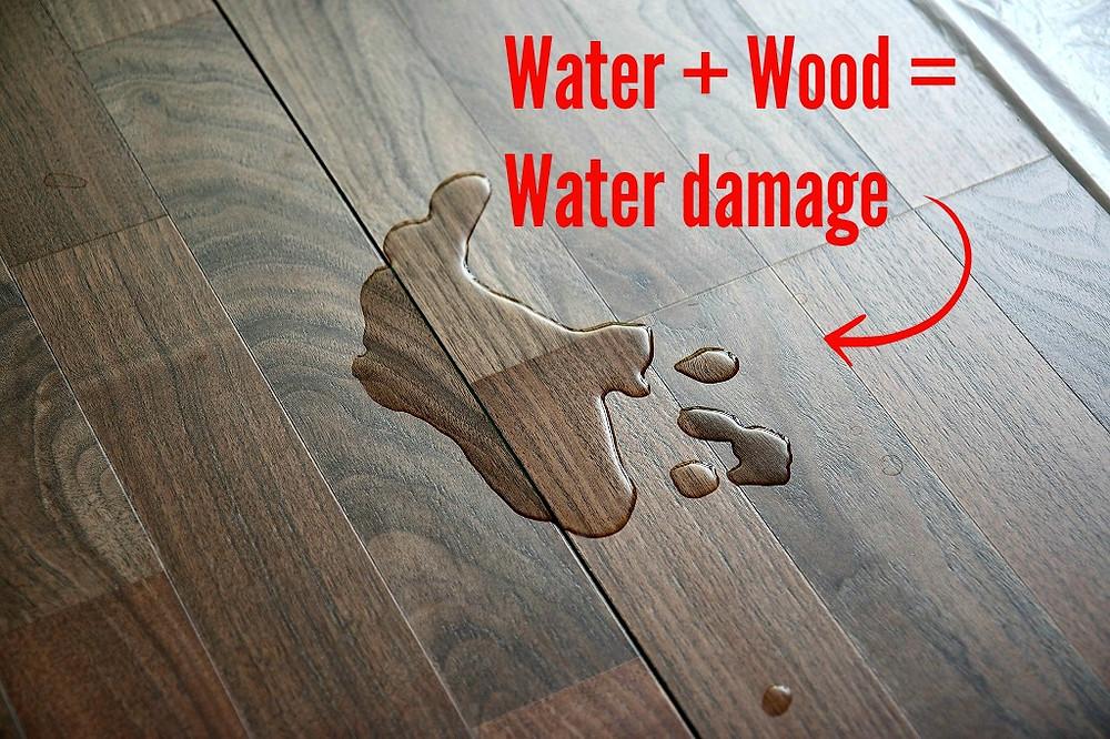 Water damaged wood