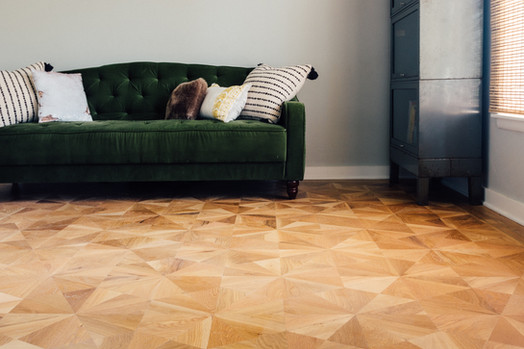 Custom Hardwood Parquet Pattern