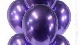 "12""In( 30.4CM) Pearlized Purple Balloons 15 Pcs"