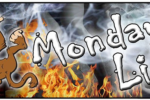 "Mondays Lie ~ ""Mad Monkey"" Sticker"