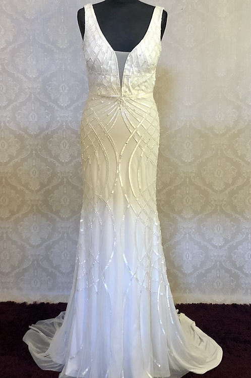 Art Couture beaded Bridal Gown