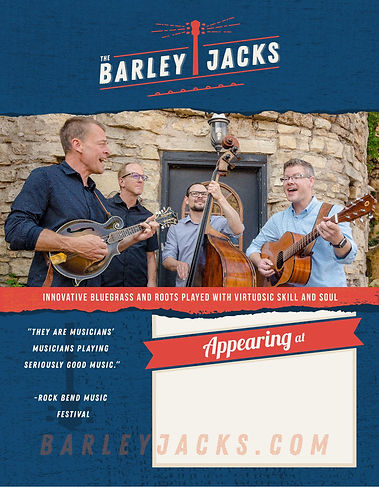 Barley Jacks Poster 8.5x11 with full ble