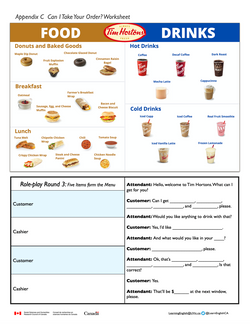 Unit 8 Welcome to Tim Hortons Worksheet.