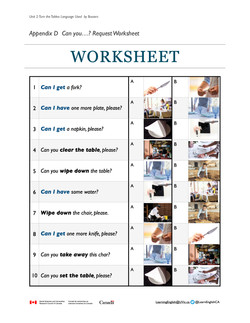 Unit 2 Can you...? Request Worksheet