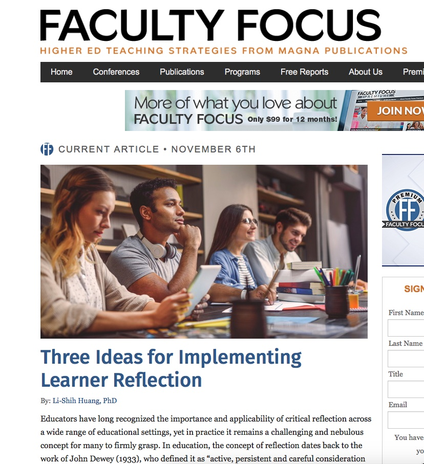 Faculty Focus Reflection