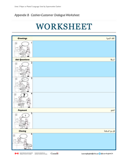 Unit 3 Cashier-Customer Dialogue Worksheet
