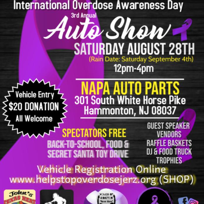 Help Stop Overdose Jerz International Overdose Awareness Day Auto Show