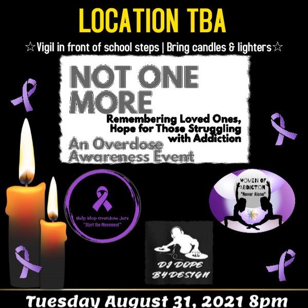 Overdose Awareness Day Candle Light Vigil