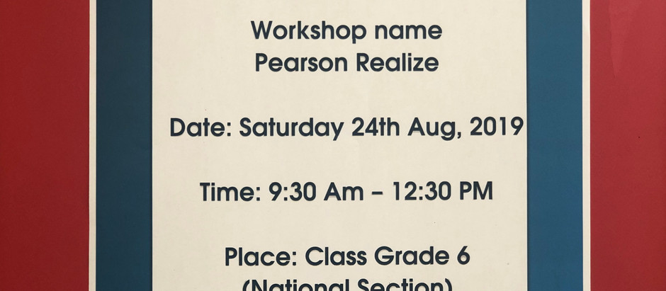 Pearson Realize Platform ورشة عمل بعنوان