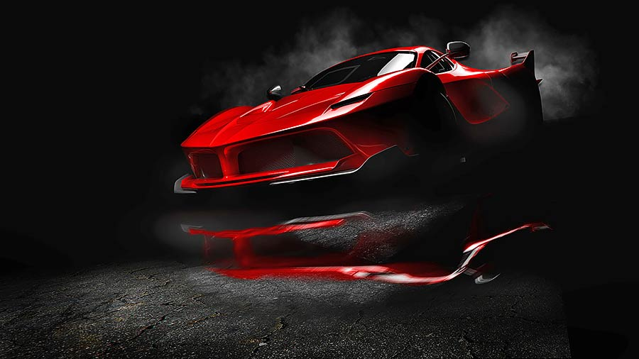 תמונת רכב עתידני
