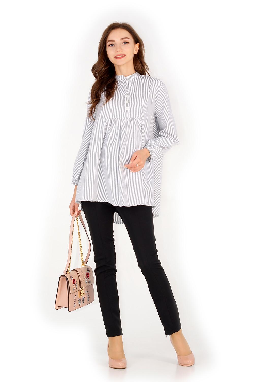 Штани для вагітних завуженого крою з високим трикотажним пасоком. Одяг для вагітних недорого