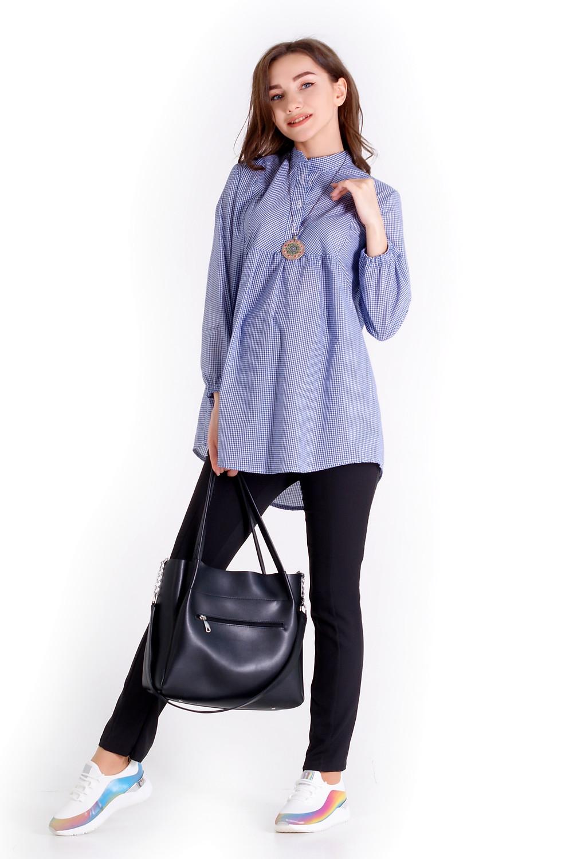блузка для вагітних вільного крою з натуральної бавовни